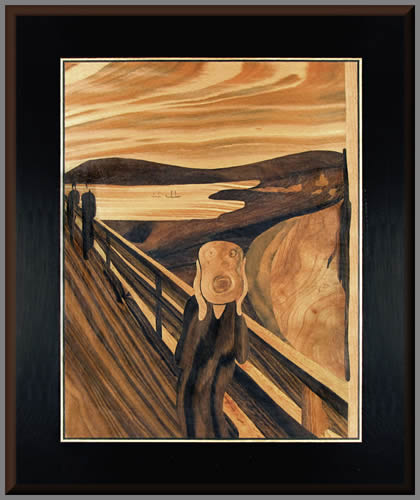 The Scream after Munch