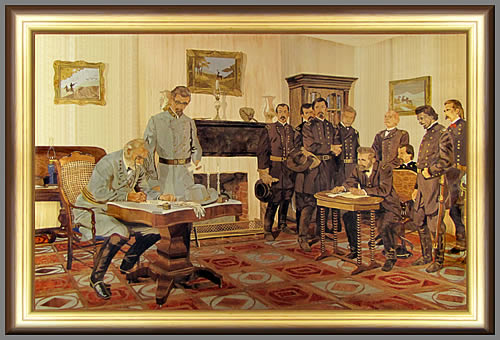 Appomattox Court Room after Tom Lovell's Surrender at Appomattox