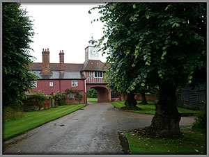 Gatehouse from the distance Ingatestone Hall