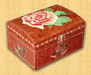 Box with Rose Lid