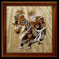 Just one of the pieces of authentic Japanese themed marquetry pictures to be found in the Japan Gallery