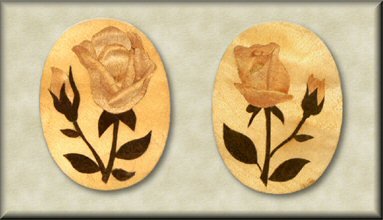 Marquetry Brooches