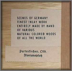 Label from rear of picture