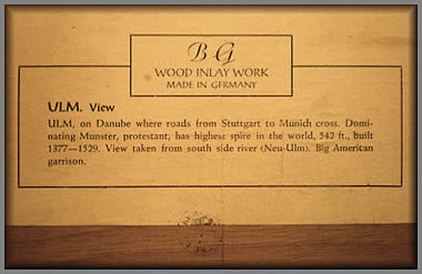 Label from Ulm picture
