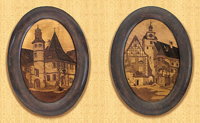 Oval Marquetry pictures