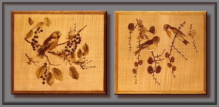 Bird marquetry pictures
