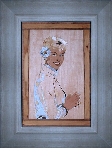 Doris Day portrait in a frame