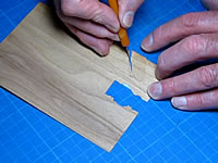 Cutting the veneer
